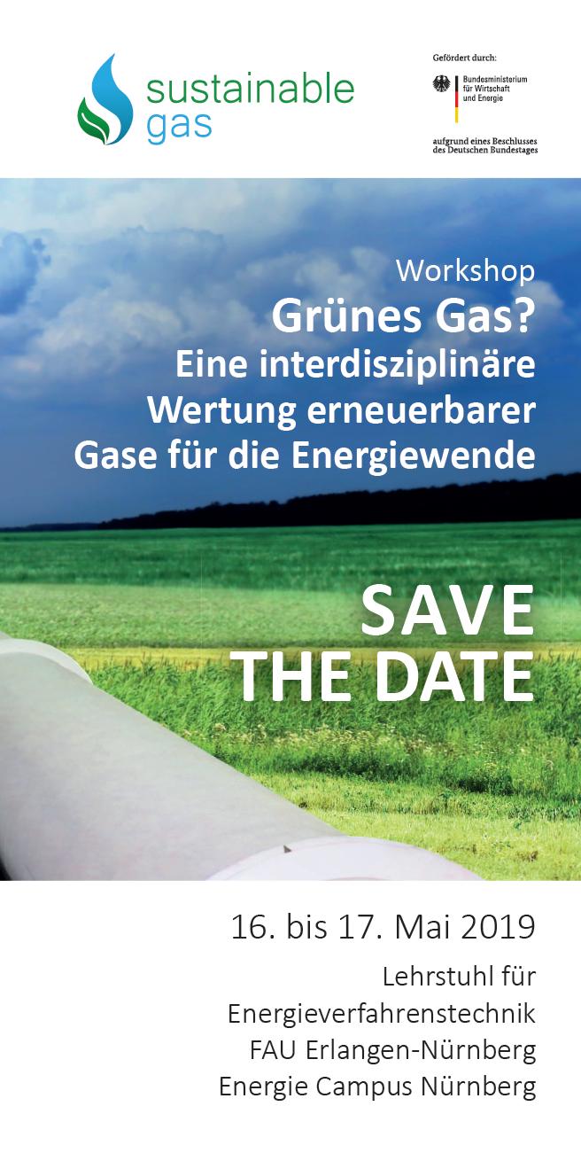 Save the Date: Workshop 'Grünes Gas? - Eine interdisziplinäre Wertung erneuerbarer Gase für die Energiewende'