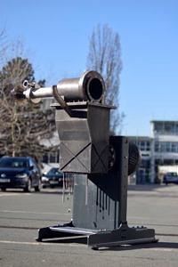 µKWK-Pilotanlage mit einem wirbelschichtgefeuerten Stirlingmotor (dargestellt ohne Instrumentierung und Isolierung)