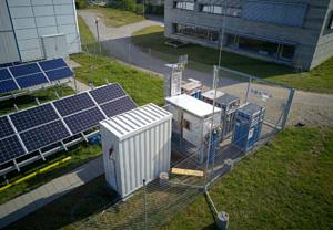 Rieselbettreaktor am Standort in Regensburg